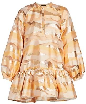 Stine Goya Blouson-Sleeve Mini Dress
