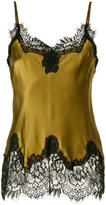 Gold Hawk satin lace trim camisole