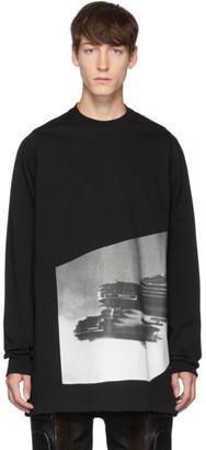 Rick Owens Black Jumbo Long Sleeve T-Shirt