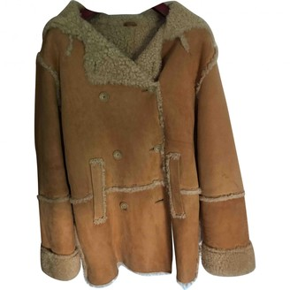 Vanessa Bruno Beige Shearling Coat for Women