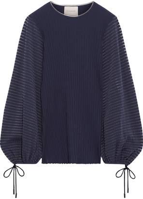 Roksanda Saida Stretch-jersey And Ribbed-knit Sweater