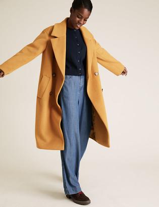 Marks and Spencer Tencel High Waisted Denim Wide Leg Jeans
