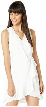 BCBGMAXAZRIA Sleeveless Cocktail Dress (Off-White) Women's Dress