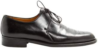 a. testoni A.Testoni A.testoni Black Leather Lace ups