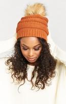MUMU Heidi Pom Pom Hat ~ Burnt Orange
