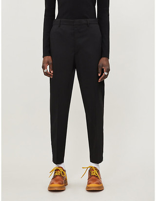 Prada Slim-fit straight woven trousers