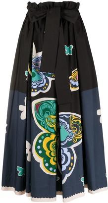 La DoubleJ Sardegna pleated midi skirt