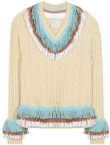 Hillier Bartley Embellished cashmere and cotton sweater