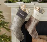 Pottery Barn Ombre Faux Fur Stocking