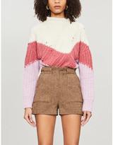 BA&SH Balmy chevron stretch-knit jumper