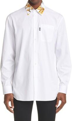 Versace Barocco Collar Cotton Shirt