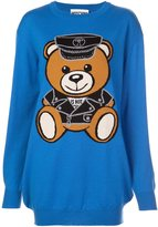 Moschino biker bear sweater dress - women - Virgin Wool - XXS