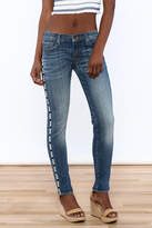 Driftwood Skinny Marilyn Embroidered Jean