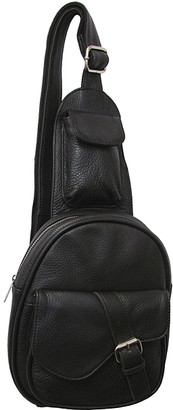 Edwin Amerileather Women's Handbags Dark - Dark Brown Leather Sling Bag