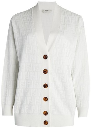 Fendi FF Button-Front Cardigan