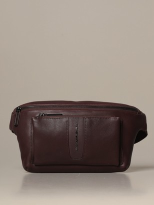 Piquadro Leather Belt Bag With Logo