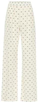 Valentino Mini VLOGO silk wide-leg pants