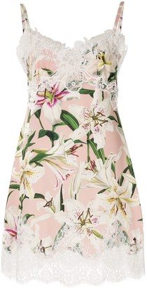 Dolce & Gabbana Lily print slip dress