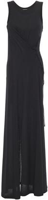 Ann Demeulemeester Lace-up Cotton-jersey Maxi Dress