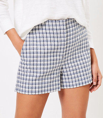 LOFT The High Waist Structured Short in Tweed