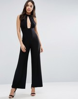 Love High Neck Keyhole Jumpsuit