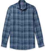 Ralph Lauren Purple Label Checked Linen Shirt