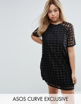 Asos Exclusive Shift Dress In Cage Mesh