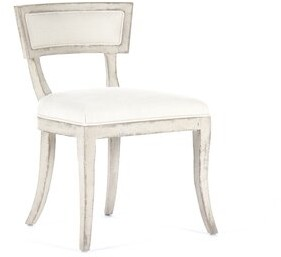Zentique Ayer Side Chair Upholstery: White