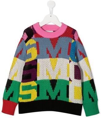 Stella Mccartney Kids Colour-Block Crew Neck Jumper