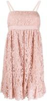 Gucci floral lace short dress