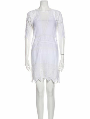 Ulla Johnson Scoop Neck Mini Dress White