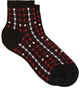 Maria La Rosa Women's Checked Cashmere-Blend Ankle Socks