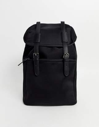 Asos Design DESIGN backpack with double straps in black neoprene