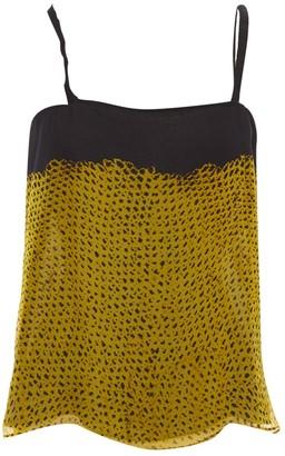 Proenza Schouler Yellow Silk Top for Women