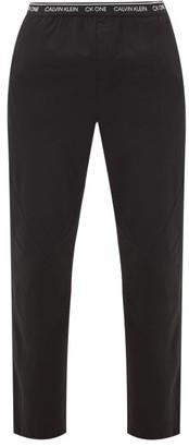 Calvin Klein Underwear Panelled Cotton-blend Pyjama Trousers - Black