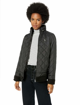 U.S. Polo Assn. Women's Quilted Moto Puffer Jacket