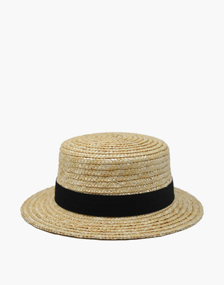Madewell WYETH Straw Gigi Boater Hat