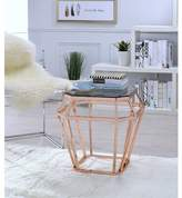 Everly Leandra Octagon Shaped Glass End Table Quinn