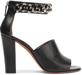 Givenchy Raquel Chain-embellished Sandals In Black Leather - IT36