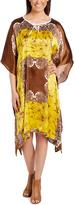 Brown & Yellow Geometric Sidetail Tunic