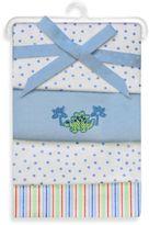 SpaSilk Dino 4-Pack Flannel Receiving Blanket