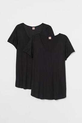 H&M H&M+ 2-pack Viscose T-shirts