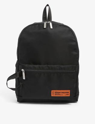 Heron Preston Logo-embroidered nylon backpack