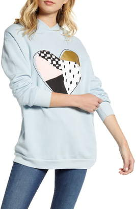 Wildfox Couture Patchwork Heart Rebel Hoodie