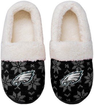 Women's Philadelphia Eagles Ugly Knit Moccasin Slippers