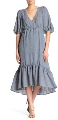 Superfoxx Elbow Sleeve High/Low Ruffle Dress