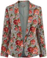Oasis Rose Print Suit Jacket