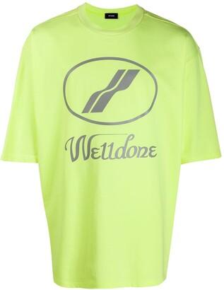 we11done oversized logo print T-shirt