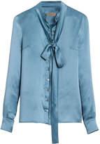 Burberry tie-neck shirt