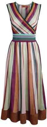 Missoni Metallic Striped Midi Dress
